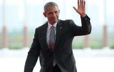 (160904) -- HANGZHOU, septiembre 4, 2016 (Xinhua) -- El presidente de Estados Unidos de América, Barack Obama llega al Centro Internacional de Exposiciones de Hangzhou para asistir a la Cumbre del Grupo de los 20 (G20), en Hangzhou, capital de la provincia de Zhejiang, en el este de China, el 4 de septiembre de 2016. La onceava Cumbre del G20 comenzó el domingo en Hangzhou. (Xinhua/Xing Guangli) (rtg)