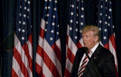 (160907) -- FILADELFIA, septiembre 7, 2016 (Xinhua) -- El candidato por el Partido Republicano a la presidencia de Estados Unidos de América, Donald Trump, pronuncia un discurso durante un evento para anunciar su política exterior y de seguridad en Filadelfia, estado de Pensilvania, Estados Unidos de América, el 7 de septiembre de 2016. (Xinhua/Bastiaan Slabbers/ZUMAPRESS) (egp) (fnc)