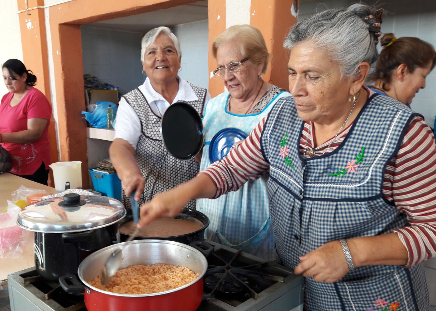 Habilitan comedor comunitario en parroquia de san nicol s for Proyecto de comedor comunitario
