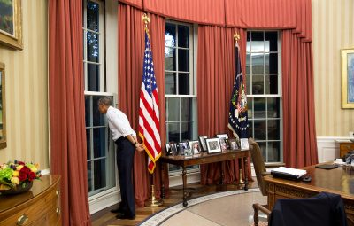 """June 23, 2015 """"The President checks out a thunderstorm brewing outside."""" (Official White House Photo by Pete Souza) This official White House photograph is being made available only for publication by news organizations and/or for personal use printing by the subject(s) of the photograph. The photograph may not be manipulated in any way and may not be used in commercial or political materials, advertisements, emails, products, promotions that in any way suggests approval or endorsement of the President, the First Family, or the White House."""