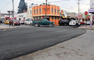 Pavimentan calle Morelos en el centro de Ramos
