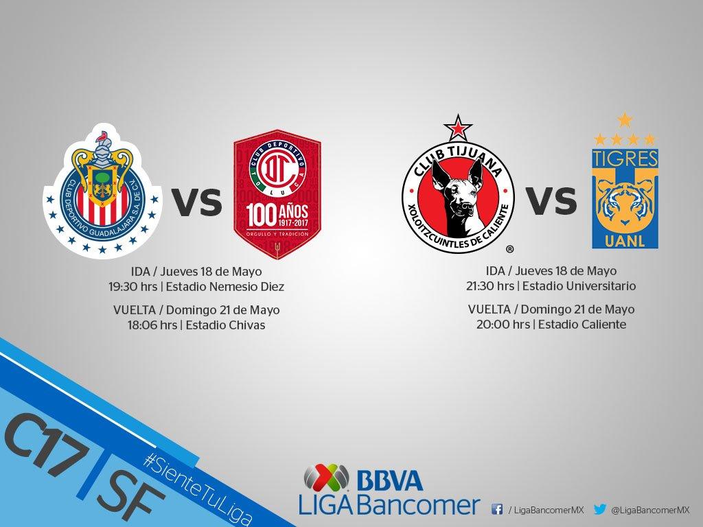 Duelos de semifinales se jugarán jueves y domingo