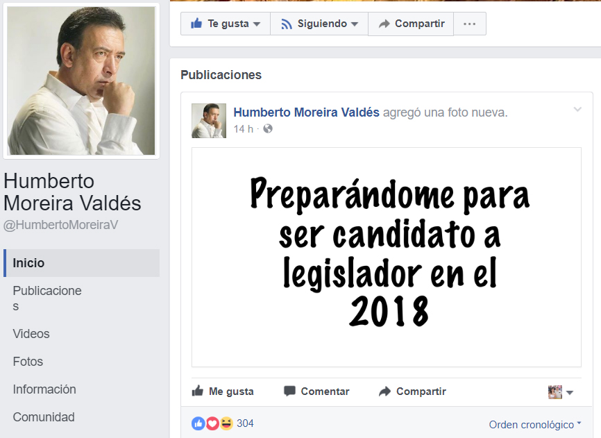 Humberto Moreira ahora buscará ser diputado federal