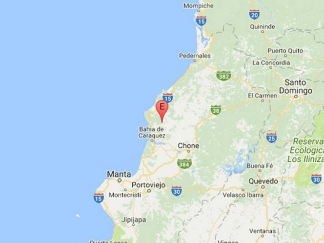 Registran sismo de magnitud 6 en Ecuador