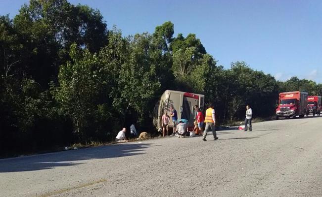 Fatal accidente en la carretera Chetumal- Mahahual
